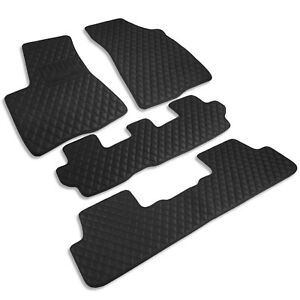 Toyota Highlander 2013 2018 Custom Fit Heavy Duty Diamond Leather Floor Mats