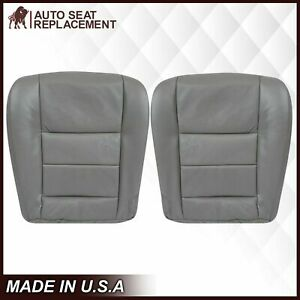 2002 2007 Ford F250 F350 Lariat Driver And Passenger Bottom Seat Cover In Gray