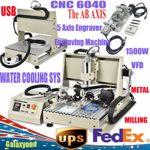 5 axis 6040 Cnc Router Engraver Engraving Usb Port Cutting Milling Machine 1 5kw