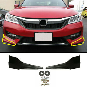 New Front Bumper Lip Splitter Spoilers Fits 16 17 Honda Accord Hfp Style