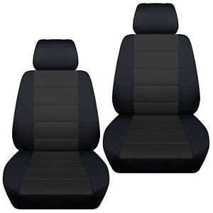 Front Set Car Seat Covers Fits 1997 2020 Toyota Camry Black Charcoal