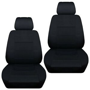 Front Set Car Seat Covers Fits 1997 2020 Toyota Camry Solid Black