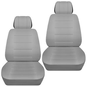 Front Set Car Seat Covers Fits 1997 2020 Toyota Camry Solid Silver