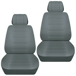 Front Set Car Seat Covers Fits 1997 2020 Toyota Camry Solid Steel Gray