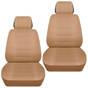 Front Set Car Seat Covers Fits 1997 2020 Toyota Camry Solid Tan