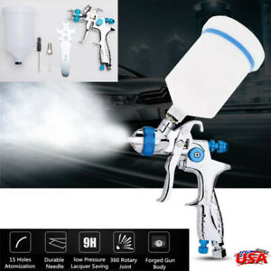 1 4mm Car Paint Spray Gun Hvlp Gravity Feed Professional Sprayer 600ml Cup Kit