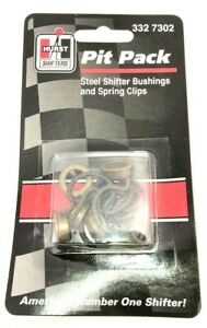 Hurst 3327302 Pit Pack Manual Transmission Steel Shifter Bushing W Spring Clips