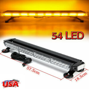 26 5 Amber 54 Led Emergency Traffic Advisor Double Side Flash Strobe Light Bar