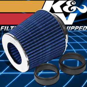 K N Rg 1001 Bl Washable High Flow Round Cone Air Intake Filter 4 Inlet 5 5 Tall