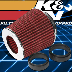 K N Rg 1001 Rd Washable High Flow Round Cone Air Intake Filter 4 Inlet 5 5 Tall