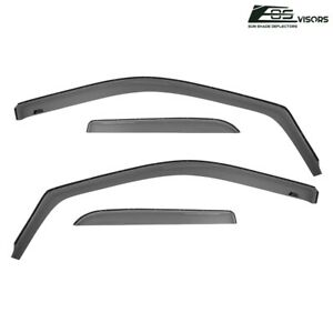 For 09 18 Ram 1500 2500 3500 Quad Cab In Channel Side Window Visors Rain Guards