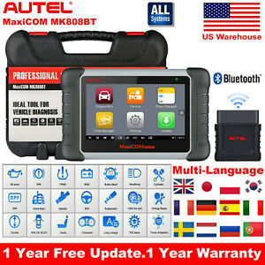 Autel Maxicom Mk808bt Obd2 Auto Diagnostic Scanner Tool Better Than Ds808 Mk808