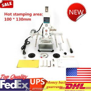 Embossing Printing Marking Leather Stamper Hot Foil Stamping Machine 10 13cm New