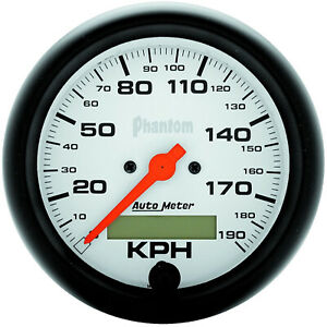 Autometer 5887m Gauge Phantom Speedometer 3 3 8 In 190km h Electric Progra