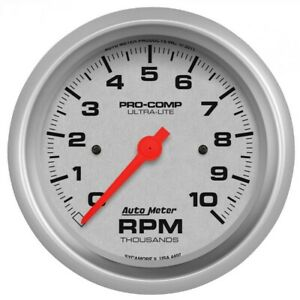 Auto Meter Ultra Lite 87 5mm 10k Rpm In Dash Tach