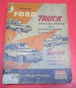 1948 1955 Ford Truck Chassis Parts Catalog Manual Book 1950 1951 1952 R1701