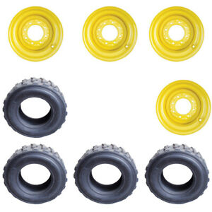 4 New 12 16 5 Skid Steer Tires wheels rim For New Holland 12 X 16 5