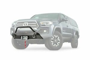 Warn Low Profile Front Bumper Guard Black Fits 2016 2019 Toyota Tacoma Winch Mnt