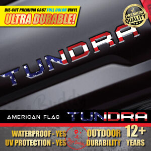 Usa Flag Vinyl Decal Tailgate Letters Insert Sticker For Toyota Tundra 2014 2020