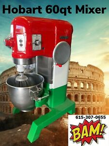 Hobart 60 Quart Mixer With Bowl And Hook 230v 3 Phase Italian Colors