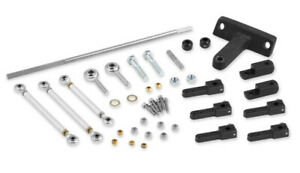 Weiand Hl4032 Throttle Linkage Kit Tunnel Ram Dual Quad Side Mount Chevy 396 454
