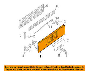 Nissan Oem 13 16 Frontier Tail Gate Tailgate 934009bf1a