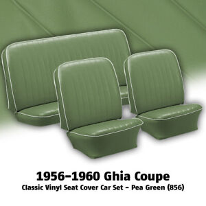 1956 1960 Vw Ghia Coupe Pea Green Front Rear Classic Vinyl Seat Covers 311414