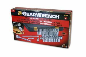 Gearwrench 1 4 Drive Socket Set Metric Sae Standard Shallow Deep Kdt80300