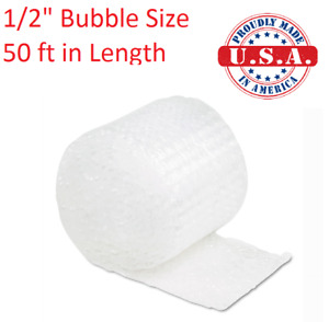50 Ft Sealed Air Bubble Wrap Roll 1 2 12 Wide Perforated Every 12 Made In Us