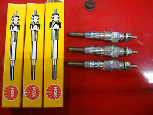 3 Glow Plug Plugs For John Deere Jd 15 Excavator 2210 4010 4100 4110 670 770