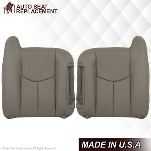 2003 2004 05 06 2007 Chevy Avalanche Silverado Synthetic Leather Seat Cover Gray
