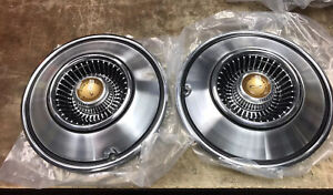 Vintage Chrysler Imperial Hubcaps Lot Of 2