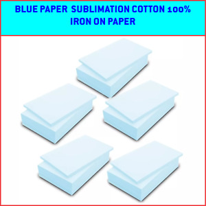 100 Sheets Blue Paper Transfer Sublimation On Cotton 100 Heat Transfer