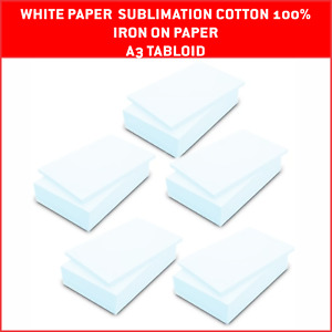 100 Sheets A3 Paper Transfer Sublimation On Cotton 100 Heat Transfer
