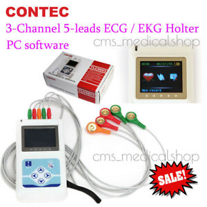 3 Channel Ecg Ecg ekg Holter Monitor System 24 Hours Contec Tlc9803