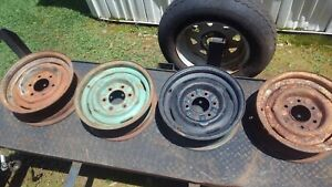 Four 15x5 1 2 Chevy Gmc 6 Lug Steel Wheels