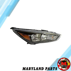 For 2015 2016 2017 2018 Ford Focus Led Headlamp Headlight Assembly F1ez 13008 gw