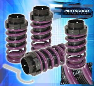 For 93 97 Corolla Adjustable Lowering Spring Coilover Sleeves Road Racing Purple