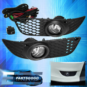 For 08 12 Mitsubishi Lancer Clear Fog Driving Lights Pair Wiring Harness Kit