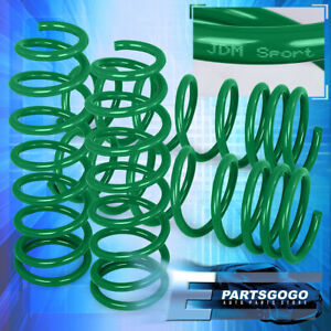 For 92 1995 Honda Civic Lx Dx Ex Sg Green Suspension Lowering Spring 2 Drop Kit