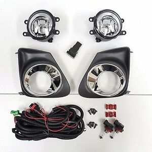 For 2011 2013 Toyota Corolla Fog Driving Light Set W Bezel Wires Switch Pair L R