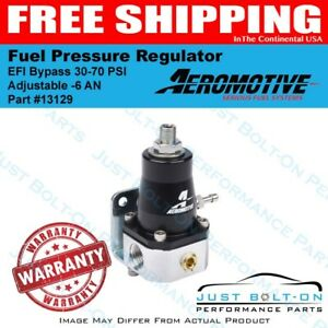 Aeromotive 13129 Fuel Pressure Regulator Efi Bypass 30 70 Psi Adjustable 6 An