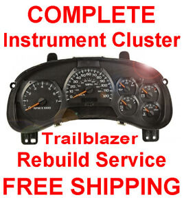 2002 2009 Chevy Trailblazer Speedometer Instrument Gauge Cluster Panel Repair
