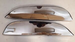 1965 1966 Pontiac Fender Skirts Stainless Steel Polished Flush Mounted Pair