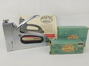 Rapid Isaberg Vintage Stapling Gun Rapid 13 Model E Made In Sweden With Staples