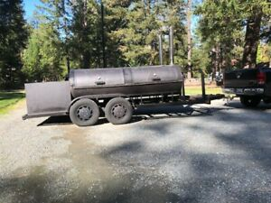 Custom Built Bbq Pit Charcoal Grill Smoker Concession Trailer 20 Tandem Axle