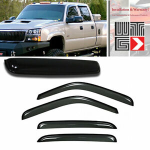 Window Sunroof 5pc Visor Vent Guard For 2002 2006 Cadillac Escalade Esv Ext