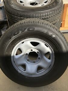 16 Wheels Tires Toyo A31 Open Country 245 75 16 Take Off From Toyota Tacoma