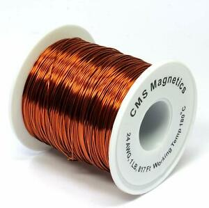 Cms Magnetics Magnet Wire Enameled 1 Lb Spool Of 24 Awg Magnet Wire