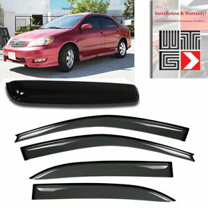 Window Sunroof 5pc Visor Rain Vent Shade Guard 2003 2008 Toyota Corolla 4 Door